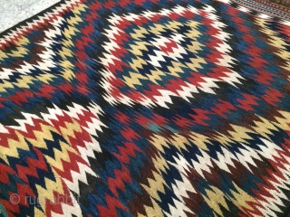SW Persia kilim in a good condition,a tiny repaired had done by the nomads originaly and I kept it,Size:232 x 148 cm