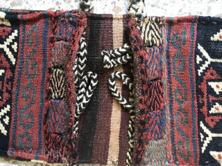 Afshar Tribes small doublebag(Akme khorjin) in a great condition,Size:48X20 cm