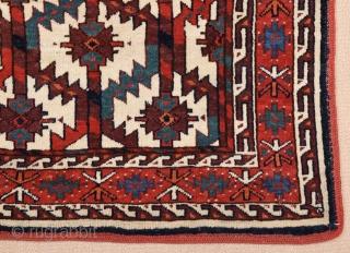 Mid 19th Century Turkmen Yomud Asmalyk size 77x119 cm