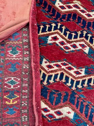 Turkmen Ersari Cuval circa 1870 size 92x148 cm