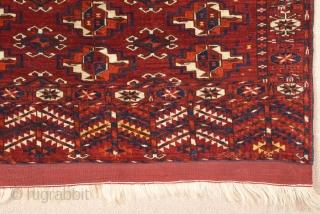 Mid 19th Century Turkmen Tekke Wedding Rug size 88x95 cm