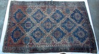 19th-C Anatolian Turkish Sumac Rug 13' x15' unusually large.