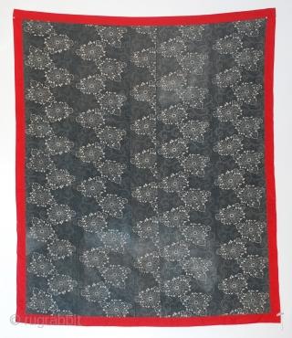 "Antique large Kasuri hand-spun, indigo cotton futon cover, Japan Meiji Period, 19th century. 67"" x 57"""