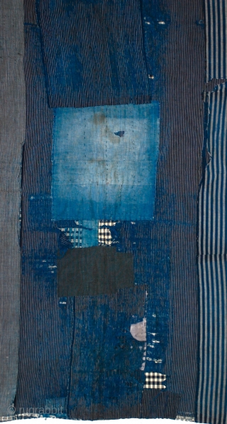 Japanese Boro Futon An exceptional indigo patched Boro futon cloth from old Japan, when many poor farming families recycled generations of worn out indigo cloth into patchworks of great soulful beauty, only appreciated  ...