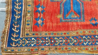 Size : 133 x 193 (cm), Old kazakh