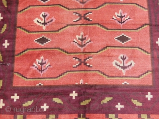 Scandinavian Deco rug dated 1931,cm.220x300,washed,in good condition except some cuts to repair.