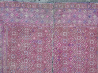 Beautiful Zhuang baby blanket,In good condition,delicate silk embroidery on cotton,cm.61x62