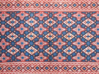 Great,early Kain,printed-painted Indian trade cloth for Indonesian market,good condition and great colors,some holes and splits,cm.75x202