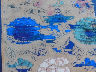 Early Ming period silk fragment.Cm.26x84