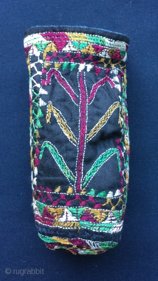 Antique Persian embroidered pouch,mint condition,cm.17x8