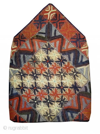 An exceptional and rare antique silk embroidered Yomud / Yomut Turkoman bag , dating to 19th Century. These bags are known as Bokhcha (also written as Boqcha, Bokcha, Bocha)and their primary function  ...