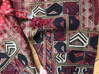A very rare complete antique silk embroidered Turkoman / Turkmen Yomud / Yomut trousers dating to the 19th Century. This highly collectible ethnographic garment is attributed to the Persian Yomud tribes. Such  ...
