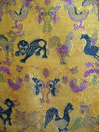 A rare antique Chinese silk woven textile hanging with the chinese zodiac animal motif. The piece dates to the late 19th century and is an exceptional beauty. The design consists of animals  ...