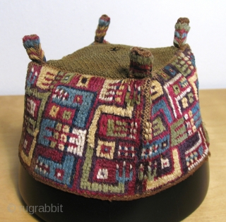 Andean pile and looped headdresses - A.D. 500 - 900.  These are beautiful and precious with amazingly soft, lustrous fiber.  It is rare to see such a superb group of  ...