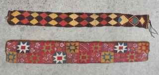 Detail of a rare and colorful Pre-Columbian bag/belt.  Chuquibamba, Peru, c. 1100 - 1400 AD. This textile is in very good condition and has good scale and proportion for such a  ...