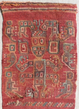 Wari Headband, A.D 600 - 900. See related examples from Met,TMC and DMA shown inside. This Wari period headband is woven in a provincial style found in the coastal regions of Peru.  ...