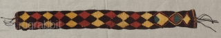 Complete Pre-Columbian tapestry strip.  A.D. 100 - 400.  Most likely a head band. Size:27.5 x 2.75 inches. See some other interesting textiles inside this post,