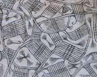 Pygmy bark cloth.  Good authentic example.  very nice drawing.