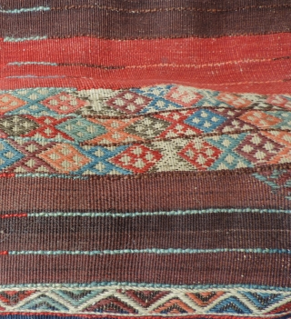 Primitive pile Kurdish rug, East Anatolia. 19th century. All dyes natural. This type of rug is discussed in Hali 100 in an article by John Wertime. a related example is published there  ...