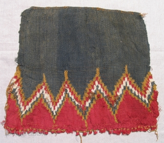 Incan Coca Bag, Peru, AD 1470 - 1532. Unusual and rare type. 14 x 12 inches