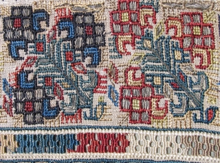 Greek Island Embroidery,  19th century, Island of Lesbos (Mytilini).  Size: 35 x 35 inches.