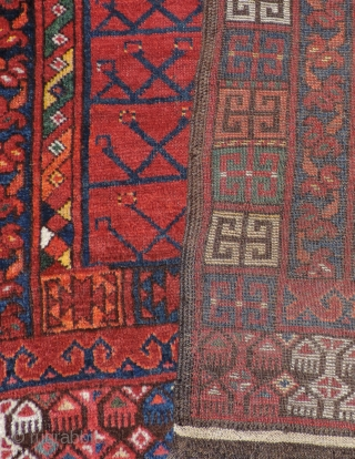 19th Century Middle Amu Daria Ensi. Woven by one of the Uzbek or Turkmen groups living in the region. This 19th century door rug has all natural dyes. The bright clear colors  ...