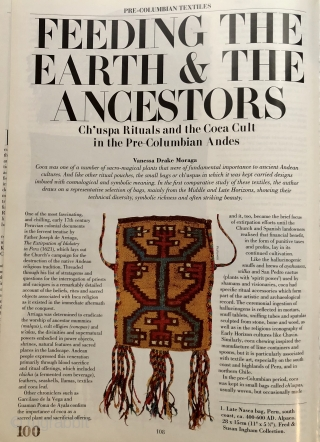 This is a good thing! Published in Hali 100, page 113, plate 13 ( pictured before cleaning and conservation).  The article, titled Feeding The Earth & The Ancestors,  is an  ...