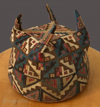 Tiwanaku four cornered hat with a most impressive top section (pictured here). Tiwanaku culture, ancestors to the Inca,   had a profound impact on all of Andean civilization.  Iconography from  ...
