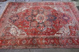 """Fine antique Serapi Heriz 410 x 315xm / 13'4"""" x 10'5"""" Please enquire for more information"""