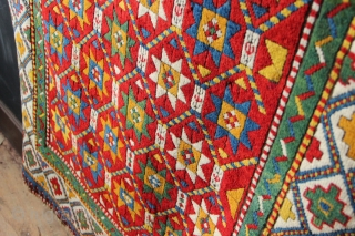 "Gorgeous 19th century Genje rug, in full pile 3'7"" x 7'10"" / 110 x 238cm"