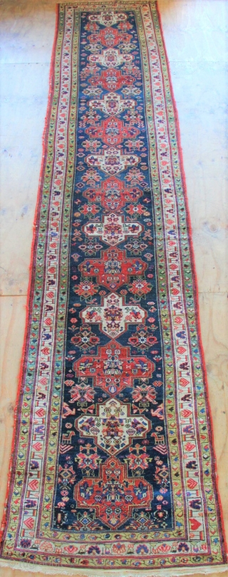 "19th century NW Persian runner in excellent original condition. 14'8"" x 3'3"""