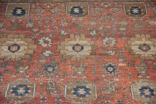 19th century Bakshiash carpet, worn, 308 x 315cm