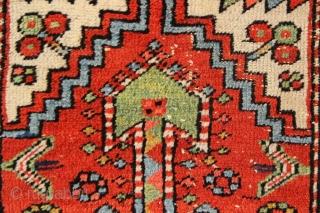 "Small Heriz rug 2'5"" x 3'7"". Low pile but very pretty!"
