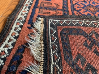 "Stunning antique Baluch. 2'8""x5""3""