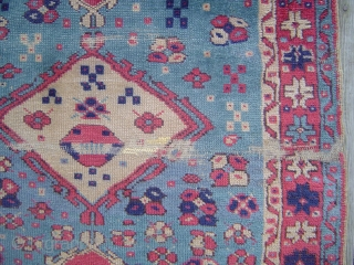 Unusual and charming little Western Anatolia rug, probably Sparta, 94 x 132 cm. Early 20th century