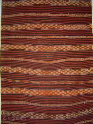 Large NorthWest Anatolia Bergama region possibly Balikesir mixed technique wool kilim, chiefly madder reds and indigo blues, in very good condition, ca. 5 x 11 ft (150 x 325 cm)