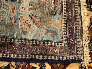 Lovely bijar old rugs Very soft wool  Size 200/140 cm