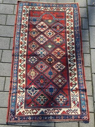 Small caucasian prayer rug Good condition