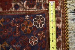 Beautiful antique with good pile Luri Qasqai Bagface ... all good colors soft wool and ready to display