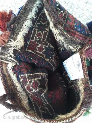 Beluch double bag, original natural colors and great condition Size:40x37cm / 16x14 inc.
