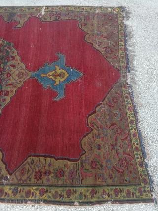 "Central Anatolian (Kula) Rug 19th Century Size :290x210cm / 9'4""c6'11"""