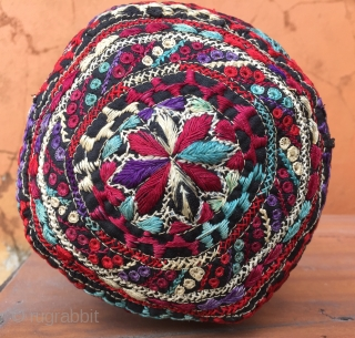 Cross stitched Hat from CentralAsia 54 cm  circumtance