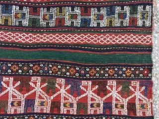 "Caucasian (Verneh)19th Century Verneh Kilim Size:171 x 263 Cm / 5'7""x8'7"""