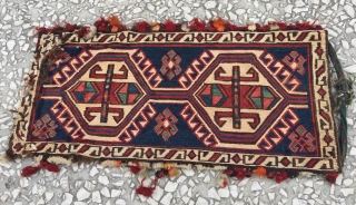 Sumac Bag 19th Century size:40X19 / 16X8 inc...