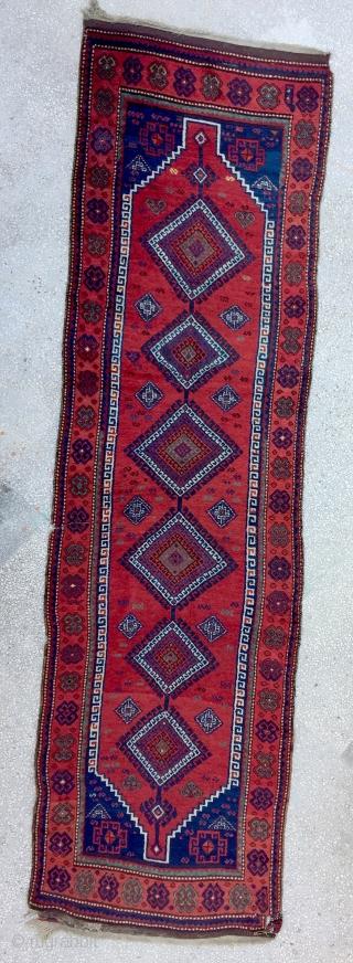 "Anatolian Kurdish Rug-19th Century Size:120X418cm / 14""X4"""