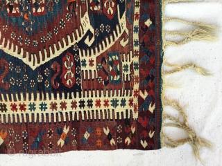 "West Anatolian Aydın Kilim Rug  End of 19th Century Size:115X109cm / 3'9""X3'6"""