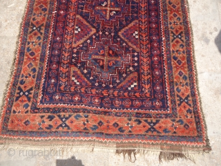 Exceptional Baluch rug with wonderful colors and shiney glossy wool,good condition and design.E.mail for more info.