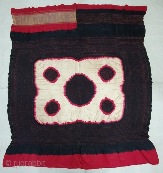 Ceremonial Tie and Dye Odhani known as Kumbhi,Tie and Dye Work on the Gajji-Silk From Kutch Region of Gujarat, India. c.1900. Its size is 145cmX166cm. This were Traditionally used mainly by Muslim  ...