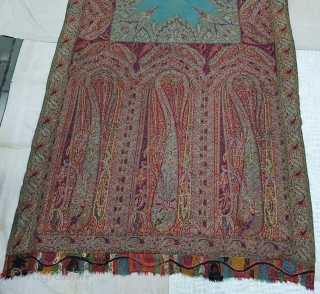 Sikh Period Jamawar Long Shawl From Kashmir, India.C.1830-1860.Its Size is 145cmx345cm. Its condition is good(20200113_133318).