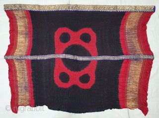 Ceremonial Tie and Dye Odhani known as Kumbhi,Tie and Dye Work on the Gajji-Silk With Real Zari Border on it, From Kutch Region of Gujarat, India. c.1900. Its size is 130cmX160cm. This  ...